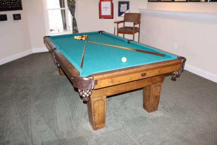 Pool table at estate sale in Kennesaw Georgia