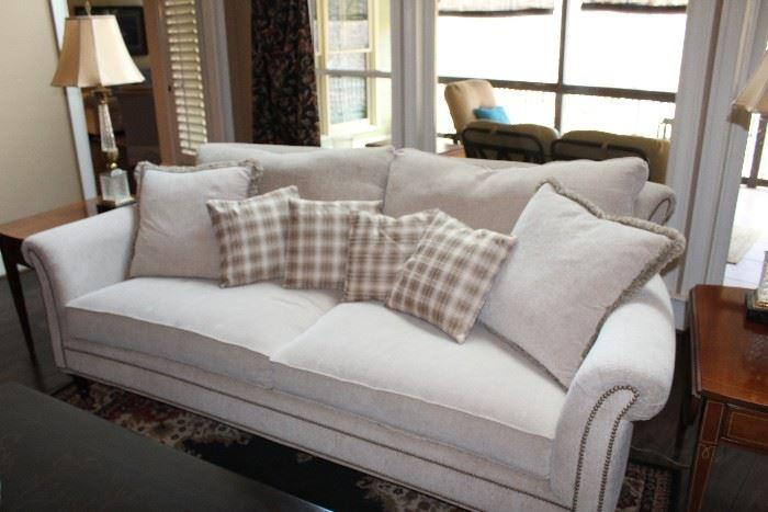 White soft fabric couch