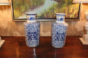 Rare vases available at an estate sale in Georgia